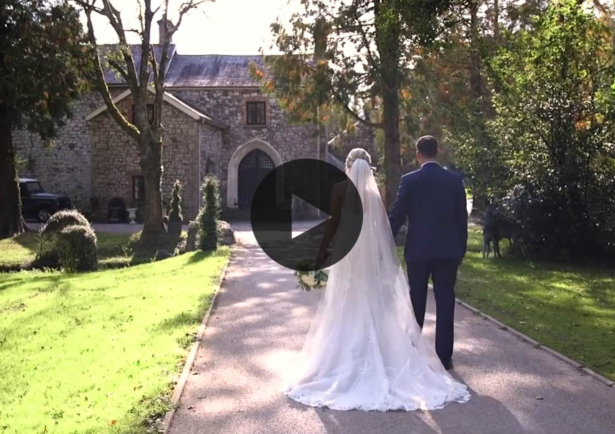 Watch Sophie and Adam Weddign at Pencoed House Estate